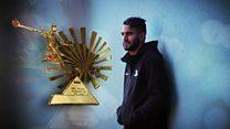 Riyad Mahrez ya lashe kyautar Gwarzon Kwallon Afirka na BBC na 2016.