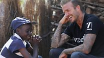 Beckham on tattoo campaign for UNICEF