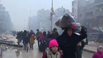 پر حلب راکټي او هوايي بریدونه بیا پیل شوي