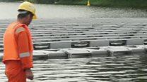 پانی پر تیرے سولر پینلز