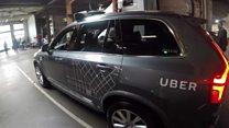Беспилотное такси Uber на улицах Сан-Франциско