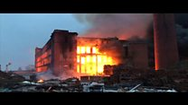 Major fire at former paper mill