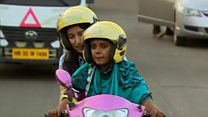India's two-wheel taxis for women