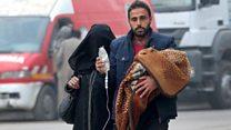 حلب پر فیصلہ کن جنگ اور شہریوں کا انخلا