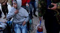 حصري لبي بي سي: صور إجلاء المسلحين وعائلاتهم من شرق حلب