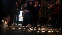 Aberystwyth in Aleppo candelit vigil