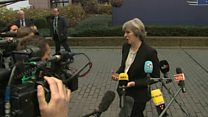 Theresa May 'not invited to EU dinner table'