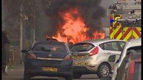 Car fire on Cromer Road in Norwich