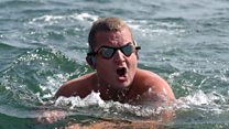 Brit's world record swim attempt sinks
