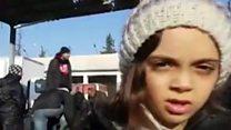 Aleppo girl speaks of evacuation