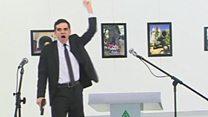 بالفيديو: لحظة أطلاق النار على السفير الروسي في تركيا