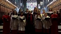 Pensioner hears choristers perform her carol