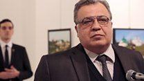 Imagens mostram atirador logo após ataque mortal a embaixador russo