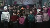 Video appeal orphans safely evacuated