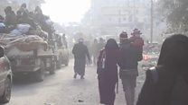 Leaving Aleppo: 'They started firing bullets'