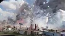 Explosion at fireworks market in Mexico