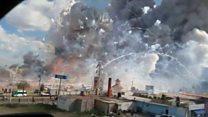 เกิดระเบิดที่ตลาดดอกไม้ไฟในเม็กซิโก
