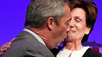 Diane James: Why 'awkward' Farage kiss didn't go to plan