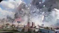بالفيديو: ألعاب نارية تقتل العشرات في المكسيك