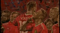 "Goalie's painting of Wales' ""remarkable"" 2016"