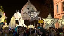 Burning the Clocks parade takes place in Brighton