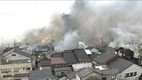Fire engulfs 140 buildings in one town