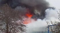 New footage emerges of factory fire