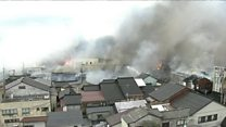 日本新泻火灾烧毁140栋房屋