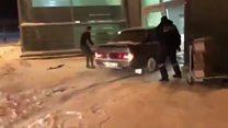 Машина протаранила терминал Казанского аэропорта