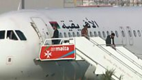 People seen leaving hijacked Libyan jet