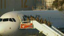 Video shows Libyan hijacker arrested in Malta