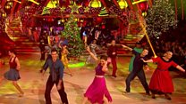 Behind the scenes at Strictly Christmas special