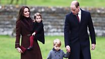 William and Kate arrive for Christmas service