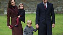 Принц Уильям с семьей посетил рождественскую службу