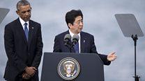 视频:安倍晋三与奥巴马到访珍珠港