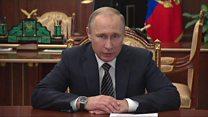 بالفيديو:بوتين يعلن وقف إطلاق النار في كامل سوريا