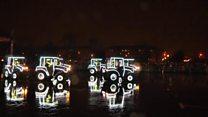 Новогодние танцы тракторов в Минске