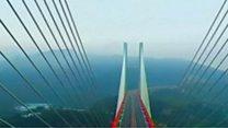 Jembatan tertinggi di dunia, dibuka untuk publik di Cina