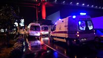 Emergency services at Istanbul attack