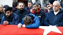 İstanbul'daki saldırıda hayatını kaybeden Ayhan Arık toprağa verildi