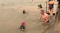 Numbers down for New Year dip