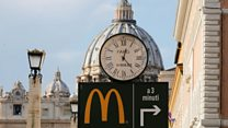 Vatican McDonald's divides opinion