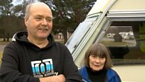 Walkers 'lucky to be alive'