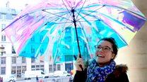 Umbrella sends distress alert when lost
