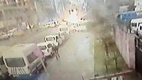 CCTV shows Turkey bomb blast