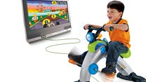 Hi-tech exercise bike for three-year-olds