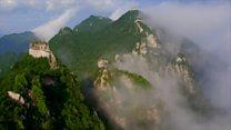 La impresionante belleza de la muralla china vista desde el aire