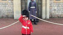 Boy soldier's birthday wish comes true