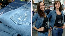 Jeans tickle users to keep them on track