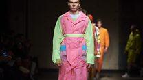 أسبوع لندن لأزياء الرجال: ألوان باهرة وأشكال هندسية